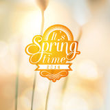 Its Spring Time typographic design with colourful  Stock Images