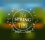 Its spring time typographic design Stock Image