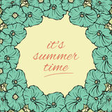 Its Summer time wallpaper with flowers, fun, party, background, vector Royalty Free Stock Photography