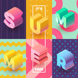 Its summertime isometric sign Royalty Free Stock Images