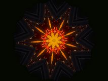 Its sunny outside Orange Star Darkness Mandala royalty free illustration