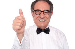 Its a thumbs up from my side Stock Images