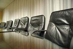 Its time for business meeting. Its time for business concept, empty board room Stock Photography