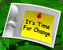 Its Time For Change Photo Means Revise Reset Or Transform Stock Photos