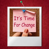 Its Time For Change Photo Means Revise Reset Or Transform Royalty Free Stock Photography