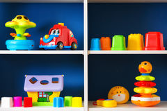 Its time for first toys. royalty free stock images