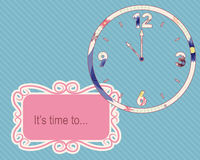 Its time to vintage background with clocks Stock Image