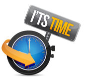 Its time watch illustration design. Over a white background Royalty Free Stock Photo