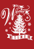 Its winter time stock illustration