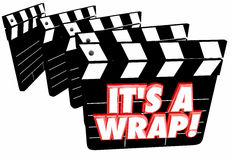 Its a Wrap Final Finished Complete Done Movie Clapper Boards. 3d Illustration Stock Photos