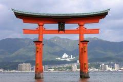 itsukushima宫岛寺庙 库存照片