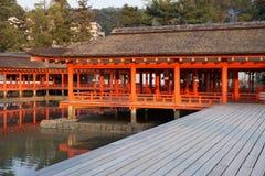 itsukushima寺庙 免版税库存图片