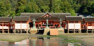 itsukushima寺庙 图库摄影