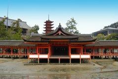 itsukushima寺庙 免版税库存照片