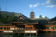 itsukushima日本宫岛寺庙 免版税图库摄影