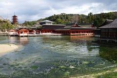 itsukushima日本宫岛寺庙 图库摄影