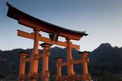 itsukushima神道圣地 图库摄影