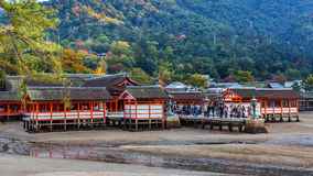 Itsukushima Jinja in miyajima Stock Image