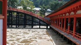 Itsukushima relikskrin royaltyfria bilder