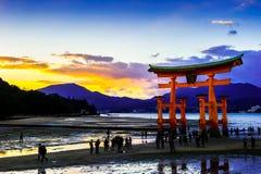 Itsukushima relikskrin royaltyfria foton