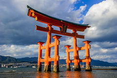 Itsukushima relikskrin arkivbilder