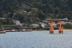 Itsukushima relikskrin Arkivbild
