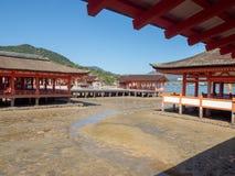 Itsukushima relikskrin, Japan royaltyfria foton