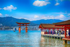 Itsukushima Shinto Shrine, Miyajima, Japan royalty free stock photo