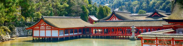 Itsukushima Shinto Shrine, Miyajima, Japan stock image