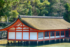 Itsukushima Shinto Shrine, Miyajima, Japan stock photography
