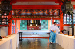 Itsukushima Shinto Shrine, Miyajima, Japan royalty free stock photography