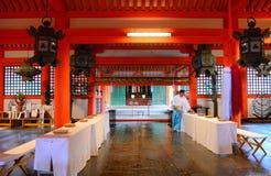 Itsukushima Shintorelikskrin, Miyajima, Japan Royaltyfria Foton