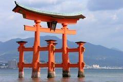 Itsukushima Shrine. Torii of the famous Itsukushima Shrine on Miyajima near Hiroshima (Japan Royalty Free Stock Photos