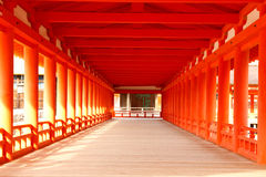 Itsukushima Shrine - Corridor Stock Image