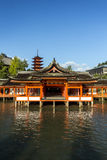 Itsukushima Shrine famous place at Miyajima. Royalty Free Stock Images