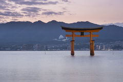 Itsukushima Shrine famous place at Miyajima. Stock Images