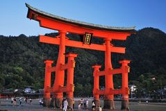 Itsukushima Shrine gate Stock Photo