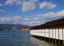 Itsukushima Shrine and the Great Torii in Miyajima island, Japan Stock Image