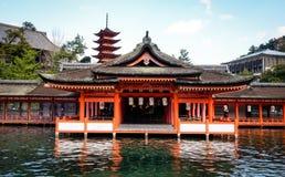 Itsukushima Shrine in Hiroshima, Japan Stock Photography
