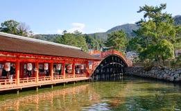 Itsukushima Shrine in Hiroshima, Japan Royalty Free Stock Photo