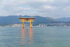 Itsukushima shrine japan miyajima torii gate Stock Images