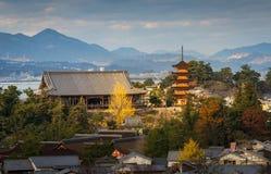 Itsukushima Shrine at Miyajima, Hiroshima. Japan royalty free stock image