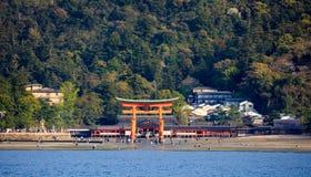 Itsukushima Shrine, Miyajima island, Hiroshima, Japan Royalty Free Stock Photography