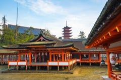Itsukushima Shrine in Miyajima Island, Japan.  royalty free stock images