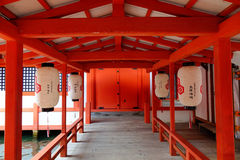 Itsukushima Shrine at Miyajima island, Japan stock photo