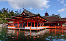 Itsukushima Shrine in Miyajima island, Japan Royalty Free Stock Photography