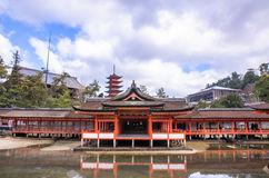 Itsukushima Shrine at Miyajima, Japan Royalty Free Stock Photo