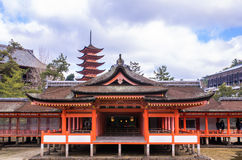 Itsukushima Shrine at Miyajima, Japan Royalty Free Stock Images