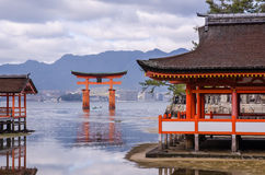 Itsukushima Shrine at Miyajima, Japan Stock Images