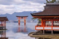 Itsukushima Shrine at Miyajima, Japan Stock Images